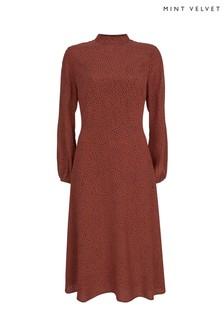 Mint Velvet  Flossy Print Midi Dress