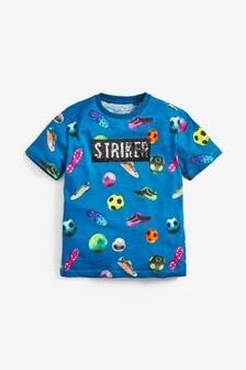Tričko s flitrami a futbalovým motívom (3 – 16 rok.)