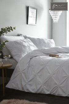 Signature Elissa Bettbezug und Kissenbezug aus strukturierter Baumwolle im Set