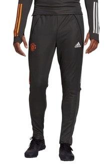 Зеленые тренировочные брюки ФК «Манчестер Юнайтед» adidas 20/21
