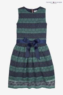 Tommy Hilfiger條紋蕾絲洋裝