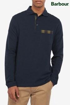Barbour® Elliott Tartan Pocket Long Sleeve Polo