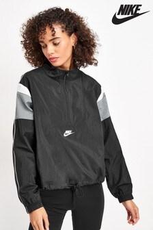 Čierna dámska tkaná bunda Nike Heritage