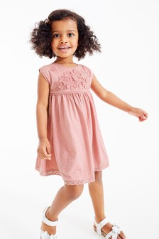 Cvetlična čipkasta obleka z bodijem (3 mesecev–7 let)