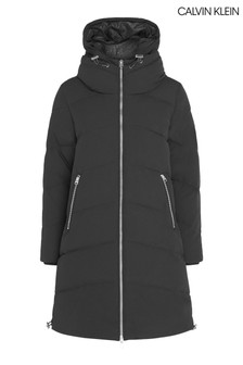 Calvin Klein Black Down Long Length Coat