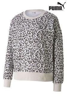 Puma® Leopard Print Graphic Crew Sweat Top