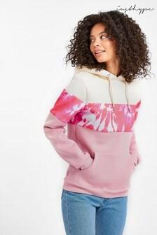 Hype. Kapuzensweatshirt mit Leopardenmuster und Farbblockdesign