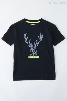 Angel & Rocket Black Stag Graphic T-Shirt