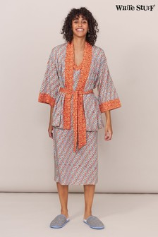 White Stuff Coral Rosehip Jersey Robe