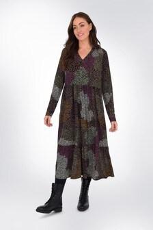 שמלה פרחונית לשילובוהתאמה והתאמה במידה גדולה שלLive Unlimited