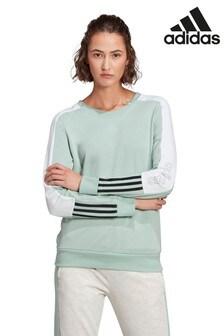 adidas Sweatshirt mit Blockstreifen