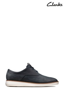Clarks Navy Nubuck Banwell Lace Shoes