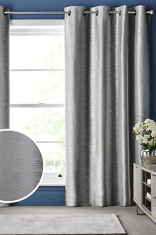 Luxe Metallic Ikat csíkos fűzőlyukak függöny