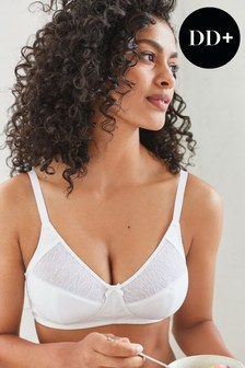 Cotton Total Support Non Wired Full Cup Daisy Bra