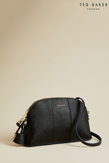 Ted Baker Black Barbrie Leather Cross Hatch Dome Bag