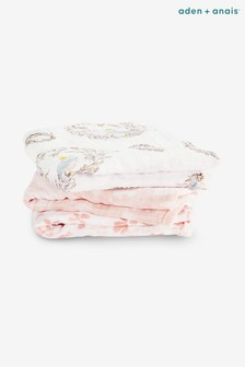 Pack de tres mantas blancas cuadradas de muselina de aden + anais