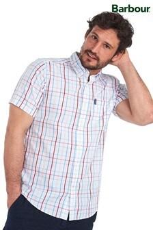 חולצה לבנה של Barbour® מדגם  Tattersall