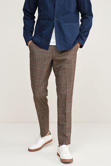 Trimmed Check Heritage Trousers