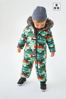Bear Print Snowsuit (3mths-7yrs)