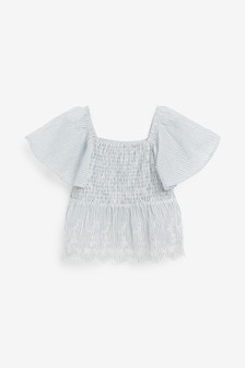 Присборенная блузка (3-16 лет)