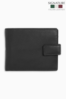 Signature Italian Leather Extra Capacity Wallet