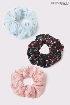 HotSquash Blue Scrunchies 3 Pack