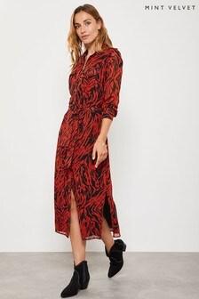 Mint Velvet  Lizzie Zebra Print Shirt Dress