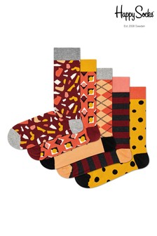 Happy Socks Red Stone Socks Five Pack