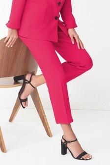Colour Pop Crepe Slim Trousers