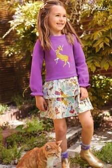 فستان عاجي اللون ترتر متغير اللون من Mini Boden