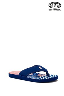 Animal Blue Swish Beach Flip Flops