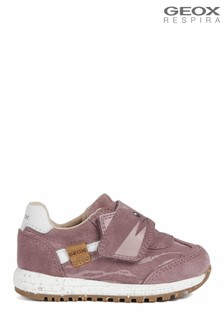 Geox Baby Girl's Alben Rose Smoke Trainers
