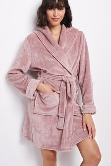 Supersoft Shawl Collar Fleece Dressing Gown
