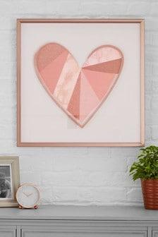 Large Heart Framed Art