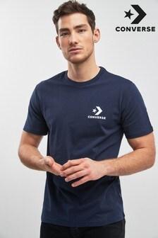 Camiseta azul marino con logo Core de Converse