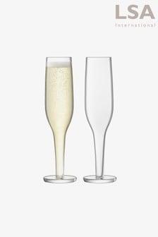 LSA International Epoque 170ml Set Of 2 Champagne Flutes