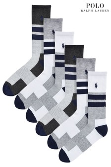 Polo Ralph Lauren Charcoal Socks Six Pack