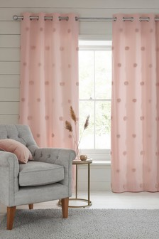 Tufted Pom Pom Eyelet Curtains