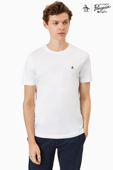Original Penguin® Pinpoint T-Shirt Featuring Pete The Penguin Chest Placement Logo