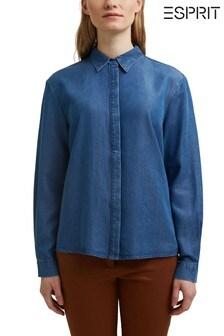 חולצה של Esprit בצבע כחול