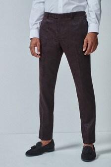 Jacquard Tuxedo Suit: Trousers