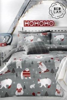 Bedlam Polar Bears Christmas Duvet Cover and Pillowcase Set