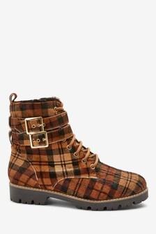 Ботинки на шнуровке и с двумя пряжками Signature Comfort