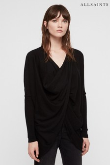 AllSaints Black Itat Shrug Cardigan Top