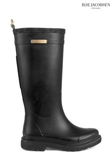 Ilse Jacobsen Black Rubber Boot