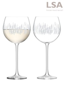 Set of 2 LSA International Fir Balloon Glasses