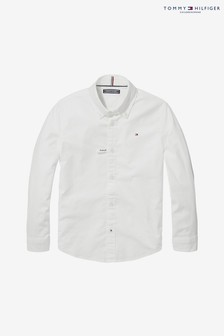 Tommy Hilfiger White Stretch Oxford Shirt