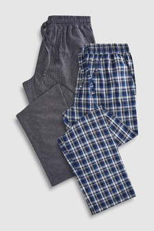 Check Woven Pyjama Bottoms Two Pack