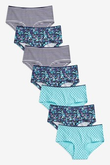 7 Pack Floral Hipster Briefs (2-16yrs)