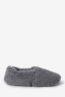 Pantuflas estilo bota de borreguillo